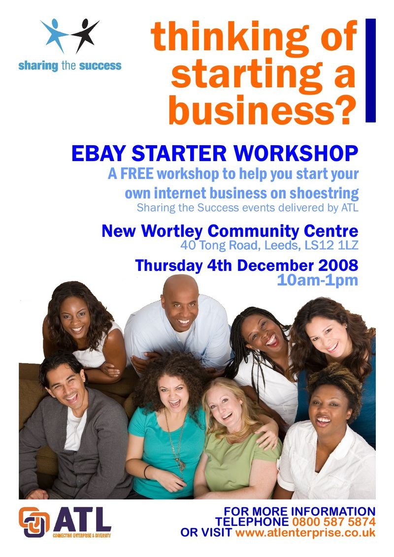 Ebay business starter workshop new wortley community centre leeds 4dec08