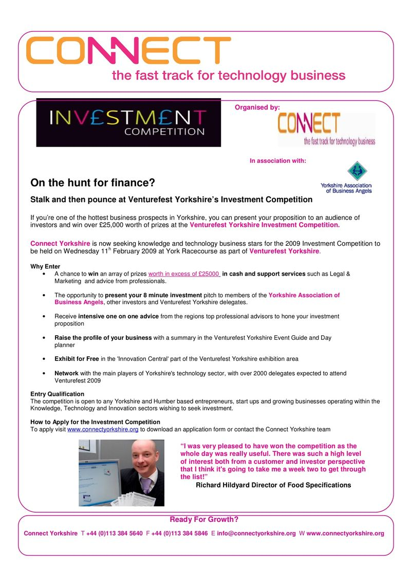 Flyer to incubators-Investment Comp 09