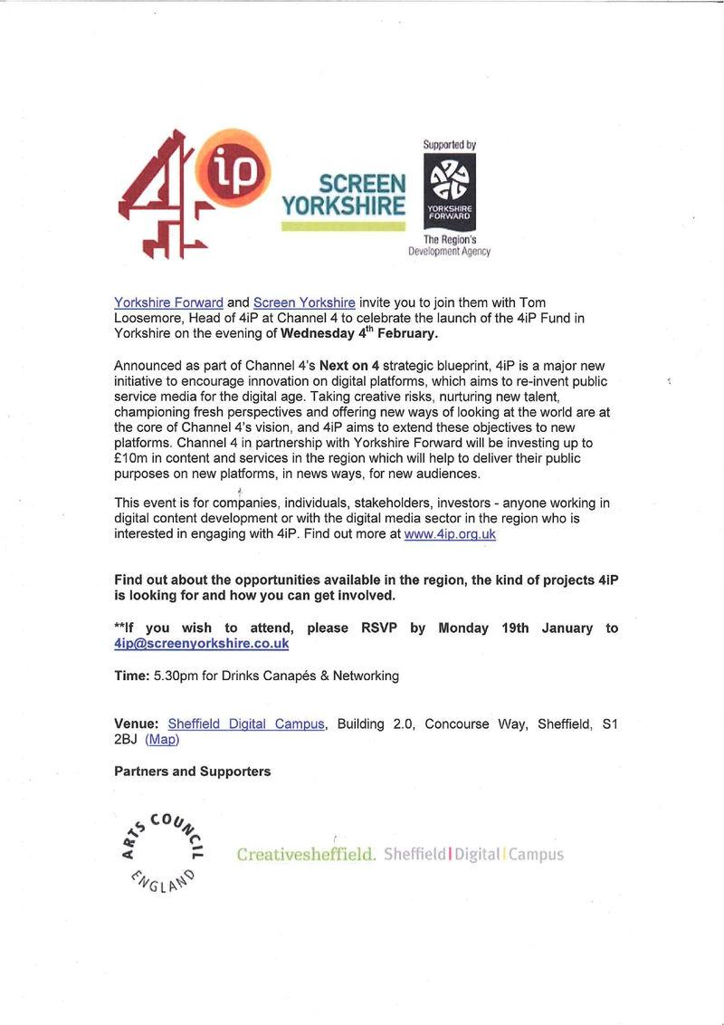 4iP Launch invite