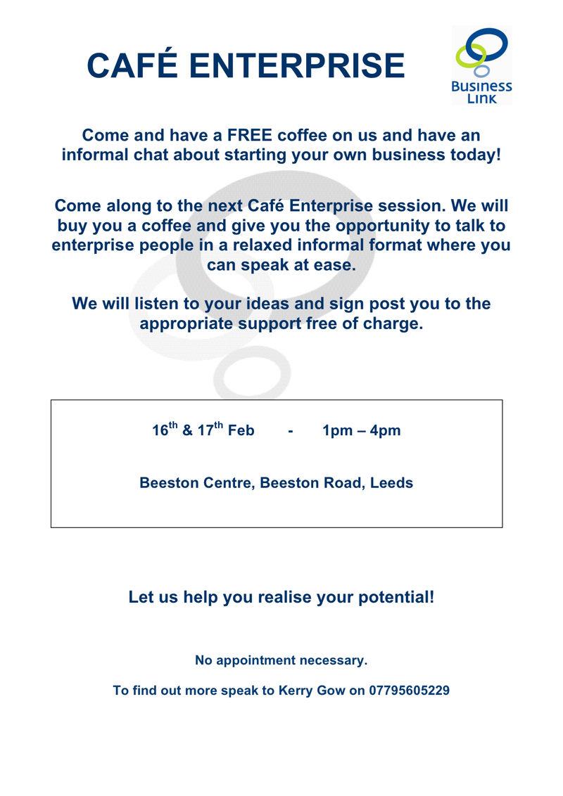 Cafe Enterprise Flyer LEEDS[1]