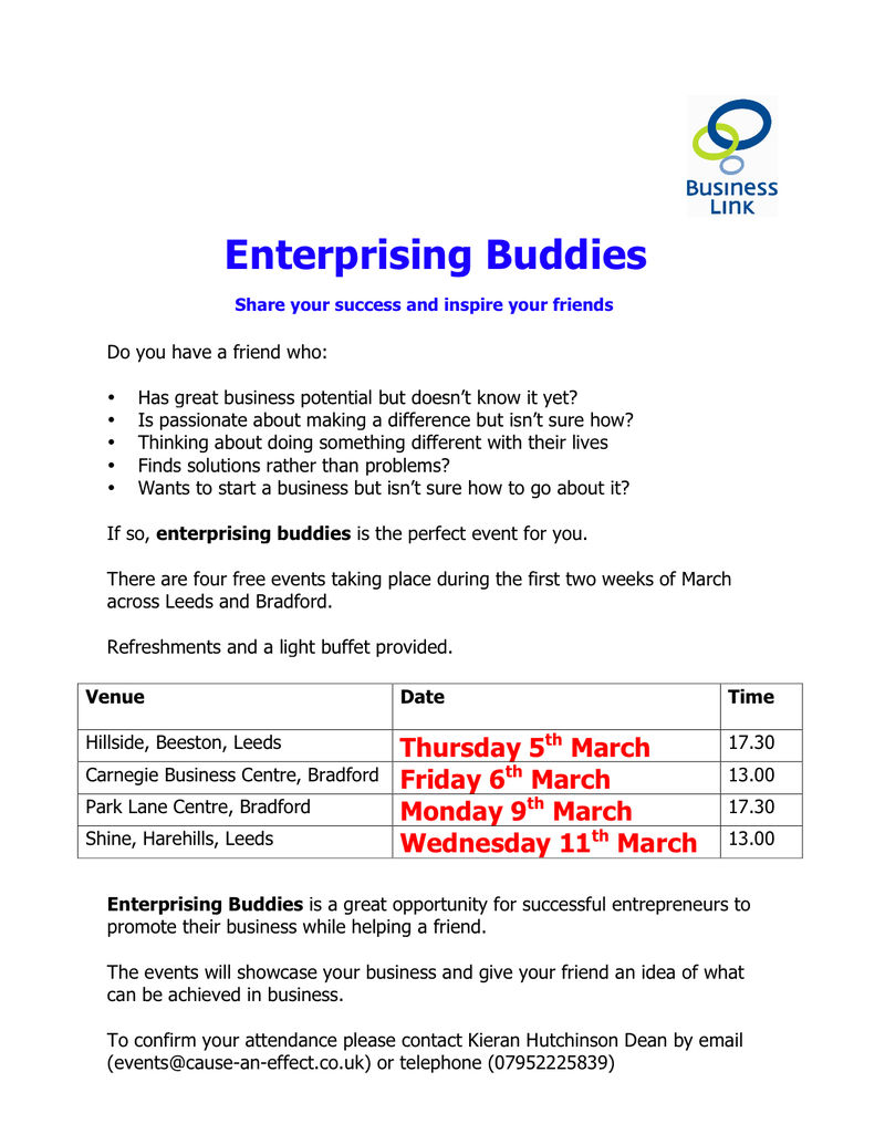 Enterprising Buddies Poster