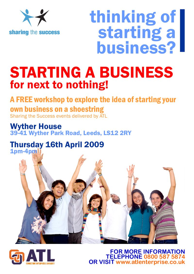 Starting A Business For Next To Nothing - Wyther House - 16.04.09