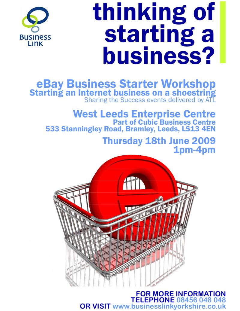 Ebay Workshop - WLEC - 18.6.09